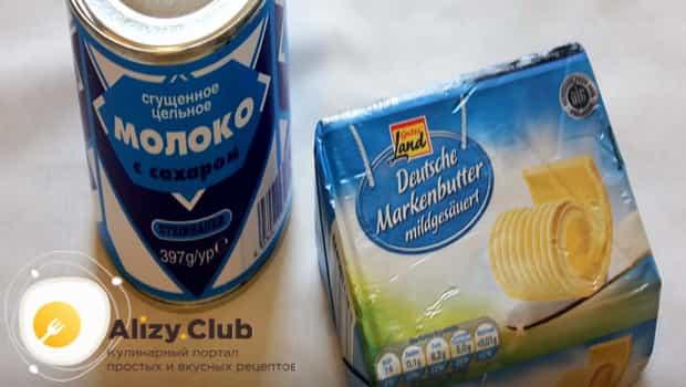 Ингредиенты для крема для торта наполеон из сгущенки