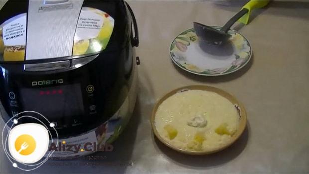 Кукурузная каша с тыквой приготовленная в мультиварке готова.
