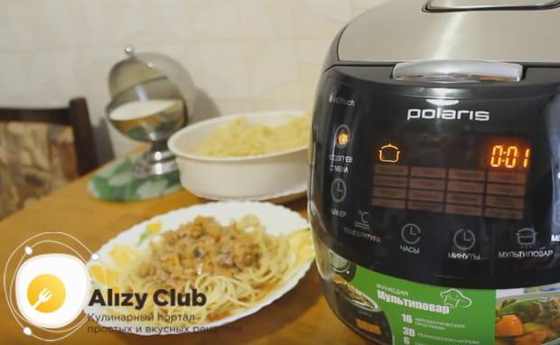 Аппетитная паста болоньезе в мультиварке готова!
