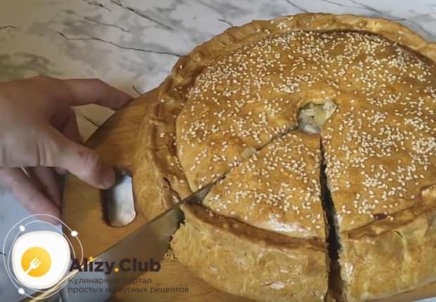 Теперь вы знаете, как сделать вкусный пирог с мясом и картошкой.