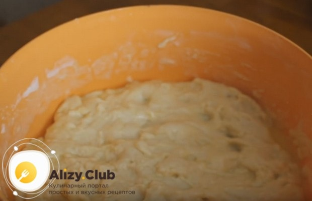 Готовое тесто ставим в теплое место, чтобы оно поднялось.