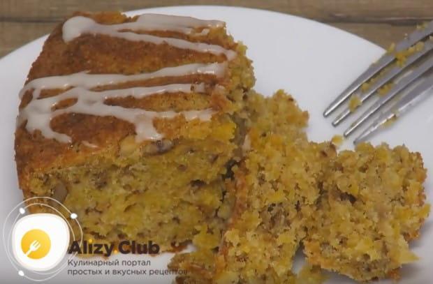 Готовя подобный кекс, в него можно добавлять различные орехи, сухофрукты, яблоки.