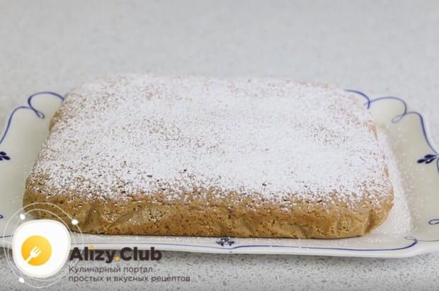 Вкусный постный пирог с вареньем на скорую руку готов!