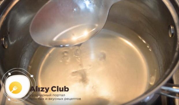 подогреваем на водяной бане желатин