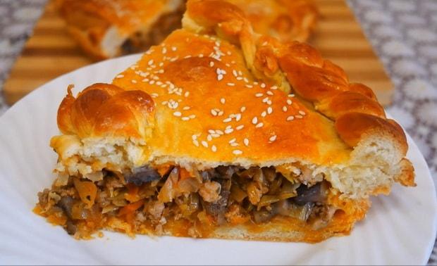 Как приготовить быстрый пирог с мясом на кефире по пошаговому рецепту и фото