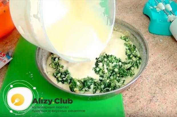 Как приготовить быстрый пирог с яйцом и зеленым луком в домашних условиях