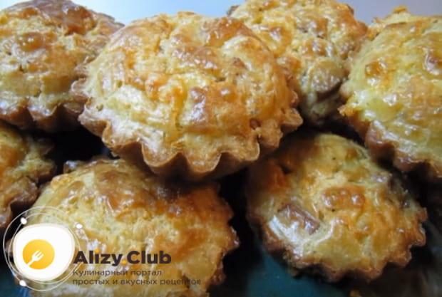 Готовим маффины с колбасой и сыром по подробному рецепту