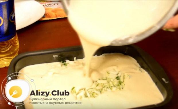 Готовим вкусный заливной пирог с капустой на кефире по детальному рецепту