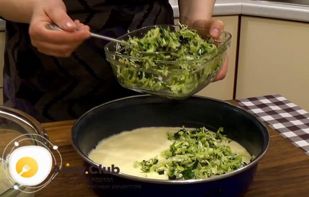 Приготовление ленивого пирога с капустой быстрее не бывает
