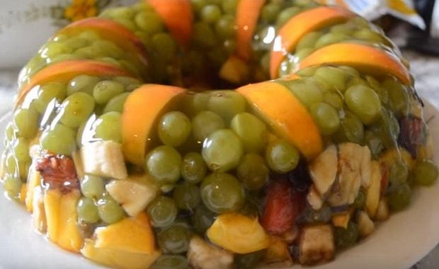 Как сделать желейный торт с фруктами я по пошаговому рецепту и фото