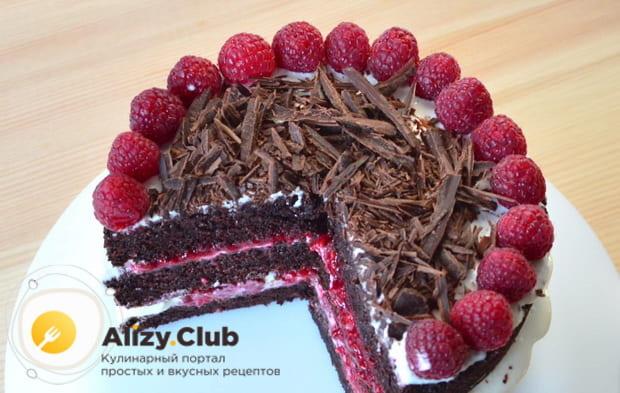Как приготовить очень вкусный шоколадный бисквитный торт со сметанным кремом по пошаговому рецепту