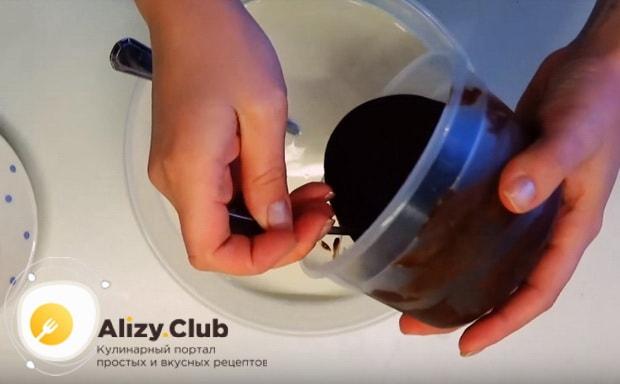 к молоку добавляем получившееся какао