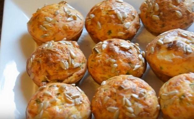 Как приготовить маффины с ветчиной и сыром по пошаговому рецепту и фото