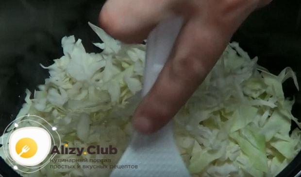 выкладываем в чашу капусту
