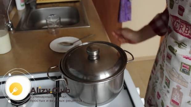 По рецепту. для приготовления пшенной молочной каши с тыквой - проварите все ингредиенты.