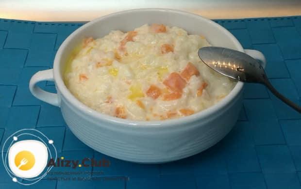 Попробуйте приготовить рисовую кашу с тыквой в мультиварке.