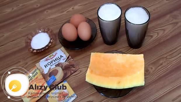 Ингредиенты для шарлотки с тыквой