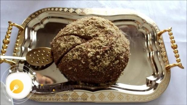 Блинный шоколадный торт с заварным кремом готов