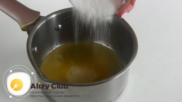 Варим сироп для приготовления торта из тыквы
