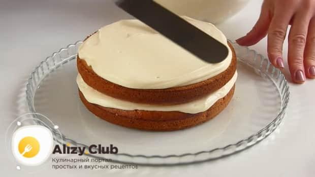 Собираем торт из тыквы.
