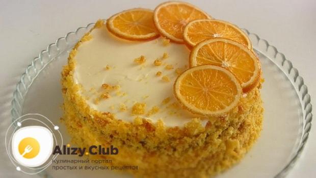 Вкусный торт приготовленный из тыквы готов.