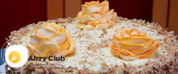Попробуйте приготовить бисквитный торт с заварным кремом