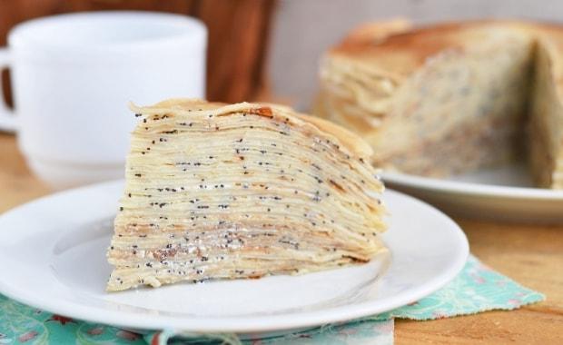 Пошаговый рецепт приготовления Блинного торта с заварным кремом