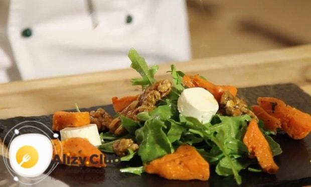 С чем подавать салат из тыквы