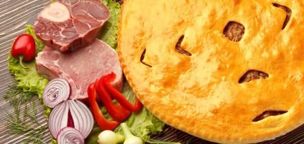 как правильно подавать осетинский пирог с мясом
