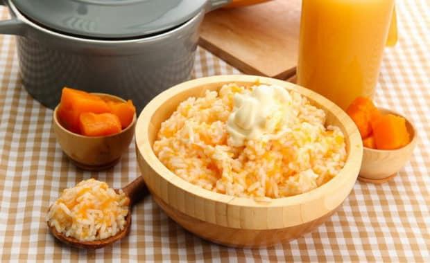 Пошаговый рецепт рисовой каши с тыквой на молоке