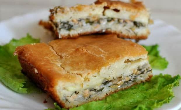 Как приготовить заливной пирог с рыбными консервами по пошаговому рецепту и фото