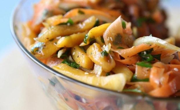 Пошаговый рецепт салата из тыквы с фото