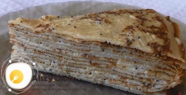 как выглядит готовый торт с блинов