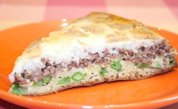 Пошаговый рецепт заливного пирога с мясом