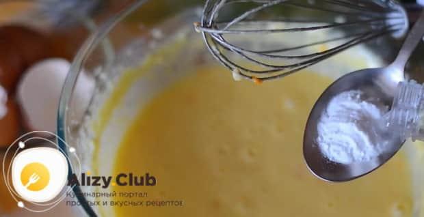 Для приготовления апельсинового пирога в духовке, погасите соду.