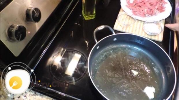 бефстроганов из говядины со сливками