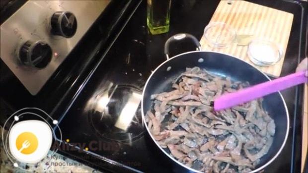 приготовление бефстроганов из говядины