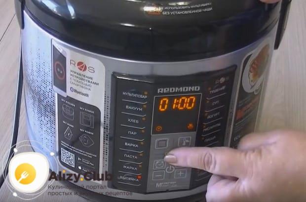 Включаем устройство в режиме выпечки.