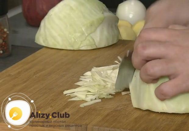 Такой борщ готовится с капусты с курицей.