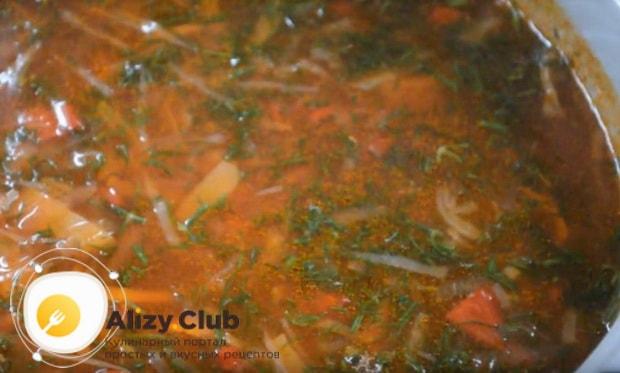 Готовим украинский борщ со свининой в мультиварке