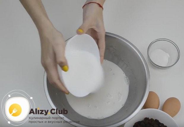 Добавляем сахар и соль.