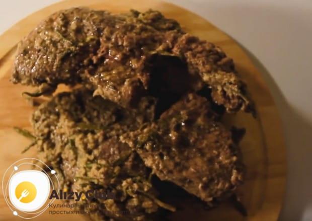 Вот мы и приготовили сочную буженину из говядины в фольге в духовке.