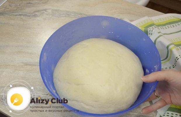 Тесто для пирожков без яиц готово.
