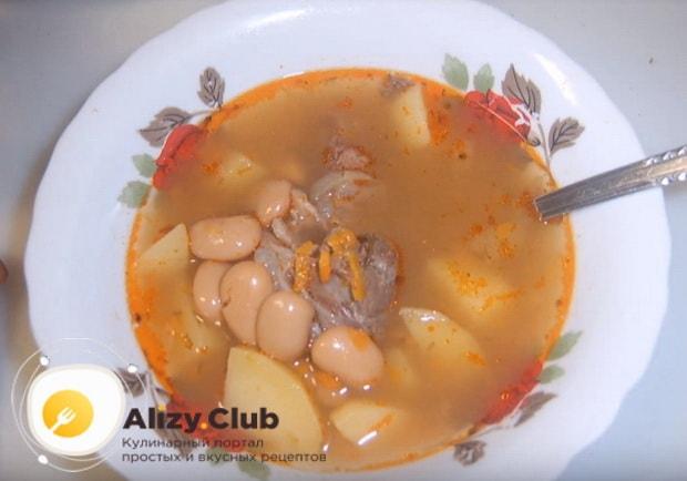 Как правильно сварить фасолевый суп с мясом по подробному рецепту с фото и видео инструкциями
