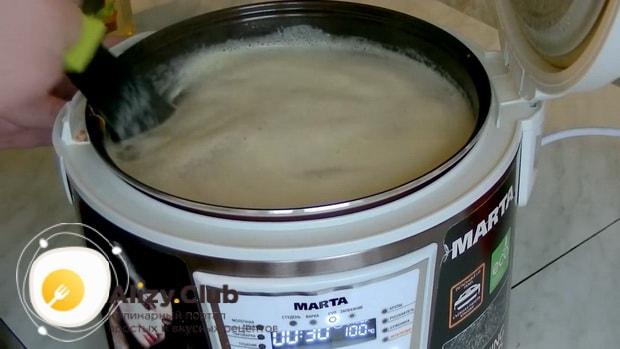 Попробуйте приготовить ороховый суп со свининой в мультиварке,