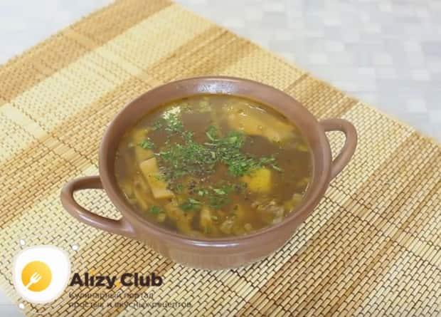 Попробуйте приготовить такой грибной суп из сушеных белых грибов по нашему рецепту!