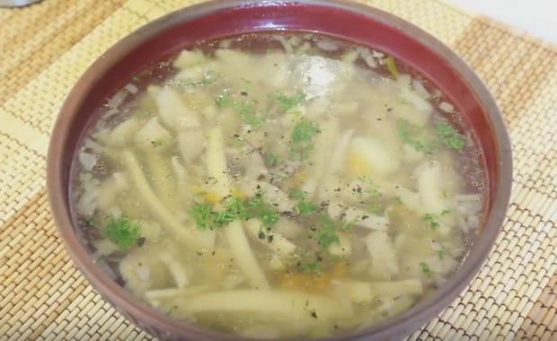 Как приготовить грибной суп с вешенками