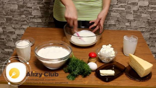 Попробуйте приготовить хачапури с творогом и сыром в духовке