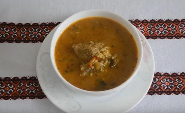 Пошаговый рецепт приготовления классического супа харчо из говядины с рисом