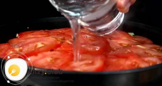 Залейте все ингредиенты 200 мл воды